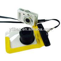 2014 hot sale yellow pvc digital camera waterproof case