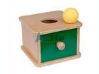 Montessori Imbucare Box w/ Knitted Ball