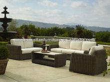 2015 Fashion Fortable Waterproof PE Rattan Garden Sectional Sofas