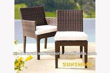 2012 patio garden aliumium PE rattan dining chairs