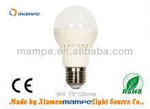 9W LED Bulb White Global Lamps