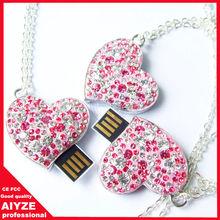 Heart shape usb stick,Jewelry flash memory,diamond usb flash