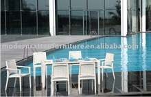 Garden rattan furniture - Dining table set