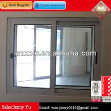 Residential wood grain aluminium frame sliding glass window and door