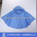 Cor personalizada nylon com zíper adulto chuva poncho