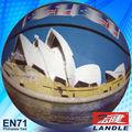 2013 nuevo estilo de baloncesto de la vejiga de goma 8 paneles de luz material de bolas de baloncesto