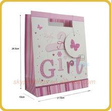 pink color fancy shoe shape paper gift bag supplier in shenzhen