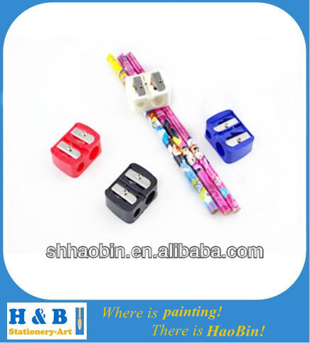 attractive square two holes pencil sharpener