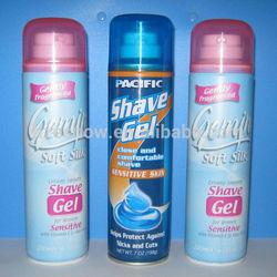 200ml (7oz) aerosol delay foaming shaving gel OEM