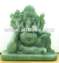 Jade Stone Ganesha / Hindu God Murti /semiprecious stone / sitting ganesha statue /siddhivinayak ganesha/ handmade ganesh statue