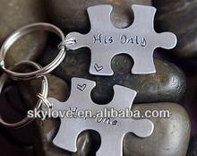 personalized jigsaw puzzle keychain key chain metal