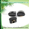 Schwarzem holz schraubverschlüsse hochwertige kosmetik-verpackungen auf glas flasche parfüm oder Nagellack