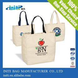 Alibaba China Shopping Bag Plain White Cotton Canvas Tote Bag