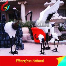 Vivid Fiberglass Outdoor Playground Crane Statue