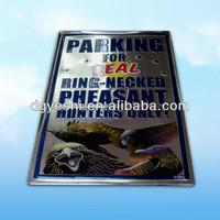 animal printed logo embossed advertising tin beer sign in bar