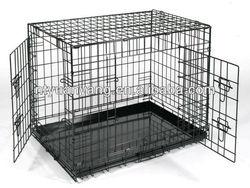 high quality double doors metal pan folding metal kennel