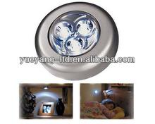 plastic cheap battery operated 3 led touch lamp/stick led light/Mini Power Pod