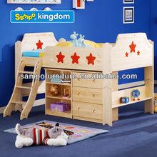 top sale kids cheap loft bed with desk