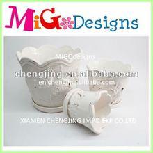 Ceramic Garden Pot Indoor flower pots cupcake design