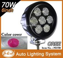 Auto part. High power 70W led work light truck