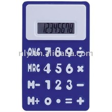 8 Digits Soft Rolling Silicone Calculator With Magnet On The Back