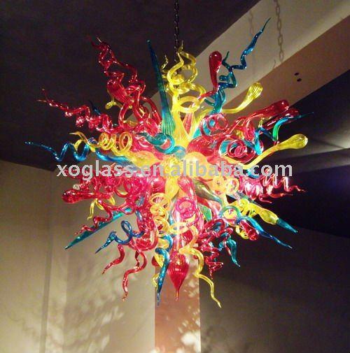 lampadario vetro colorato : multi colore lampadario xo-9033 e colorato lampadario in vetro ...