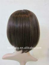 Fashion Short remy Hair lace wig bang toupee