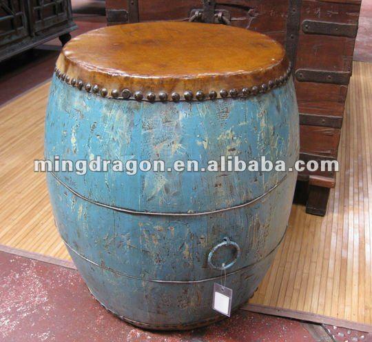 blau antiken hölzernen couchtisch stil in der trommel