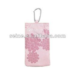 lifestyle pink flower mobile phone bag