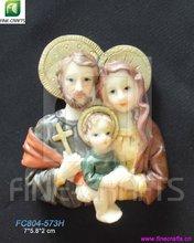 Religious souvenir, Resin fridge magnets, Holy family