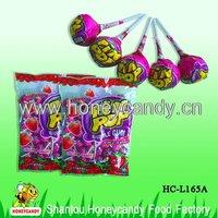 21g Strawberry Lollipop Inside Gum
