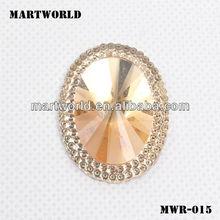 Shinning Heart Shaped Acrylic Rhinestone For Garments(MWR-015)