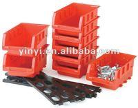 8 plastic storage bin kit, wall mount parts bins,combination boxes(202670)