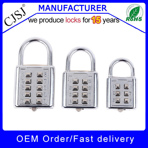 CJSJ brand safety travel products advanced resetable 3 numeric digital lock