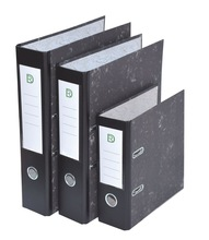 A4 Paper cover with PVC spine Marble Lever Arch File