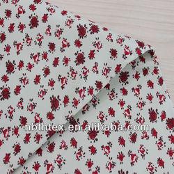 32/2x16 women coat rose flower printed cotton fabric