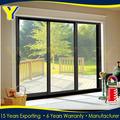 as2047 alumínio interior residencial vidro deslizante duplo porta de entrada