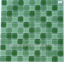 Crystal Green Glass Mosaic Tiles Bathroom (KSL-A2016)
