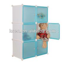 Newest DIY PP plastic cube storage shelf KC-SS001