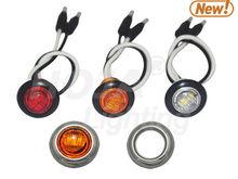 0.8 inch Mini Round LED Marker & Clearance Light 12v marker lights led