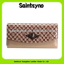 13077 Fashion ladies girls purse organizer wallet bag PU leather handbag