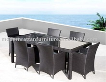 Restaurant furniture - Wicker dining chair and table for 6 persons
