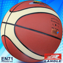 High quality 12 panles leather basketball Official Size 6 laminated basketball
