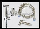 304 stainless steel brushed nickel shattaf bidet set(A2017)