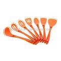 De alta calidad 7 piezas de plástico manejar utensilios de cocina, herramienta de la cocina, de silicona utensilios de cocina