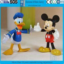 customized bendable cartoon duck figure/plastic pvc bendable mouse figure toy/OEM cartoon characters bendable toys