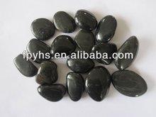High light black type polished pebbles/ high polished