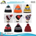 Fitted High Quality New Style Leather Patch Wholesale Custom Beanies