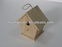 unfinished Garden wooden bird house bird feeder bird cage
