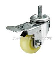 Screw trailers swivel Brake Nylon wheels